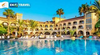 Zľava 57%: Užite si leto už na jar. Vyberte sa na 8-dňový relax na Severný Cyprus do luxusného 4* hotela Le Chateau Lamboussa s polpenziou a leteckou dopravou z Viedne!