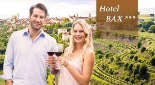 Zľava 53%: Zabudnite na povinnosti a užite si trocha romantiky na čarovnej južnej Morave v Hoteli Bax***. V cene aj polpenzia, fľaša vína, welcome drink a všetky pamiatky na dosah!