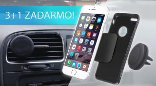 Zľava 63%: Sústreďte sa pri šoférovaní na volant a cestu pred sebou! Váš mobil vám spoľahlivo podrží praktický magnetický držiak na všetky typy telefónov.