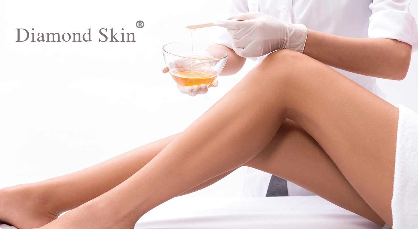 Cukrová depilácia rôznych častí tela Natural od Diamond Skin® v centre Bratislavy