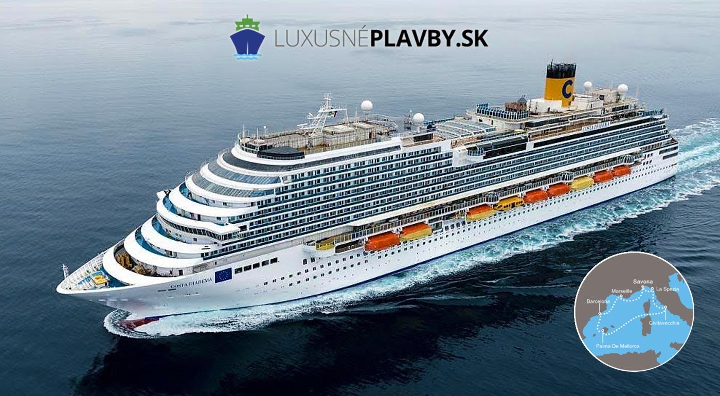 8-dňová okružná plavba po Stredomorí luxusnou loďou Costa Diadema - precestujte až 3 krajiny na plávajúcom meste