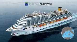 Zľava 37%: Fascinujúca 8-dňová plavba luxusnou loďou Costa Diadema po Stredozemnom mori s návštevou miest Marseilles, Barcelona či Palma de Mallorca. Užite si netradičnú dovolenku na výletnej lodi.