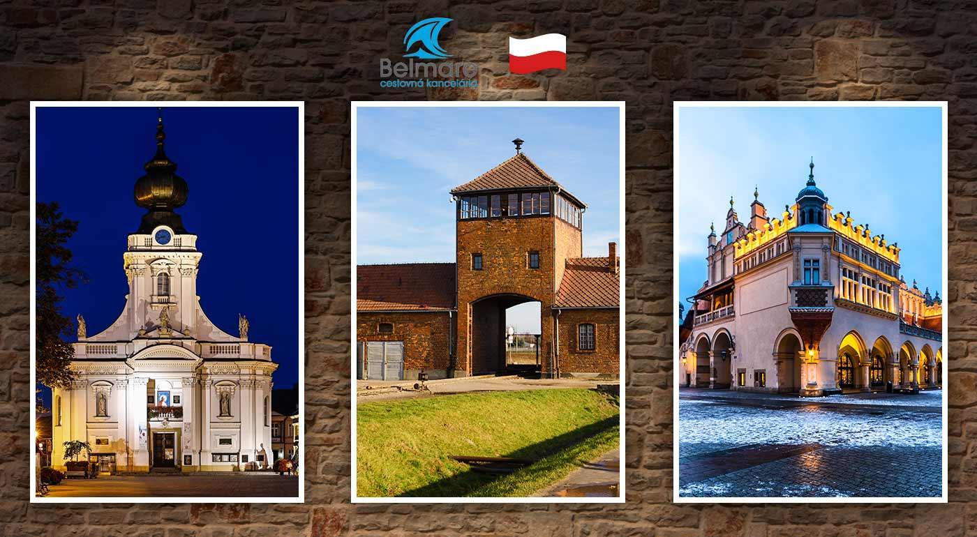 Poznávací zájazd do Osvienčimu s návštevou Krakowa, továrne Oskara Schindlera a Wadowíc - rodného mesta Jána Pavla II.