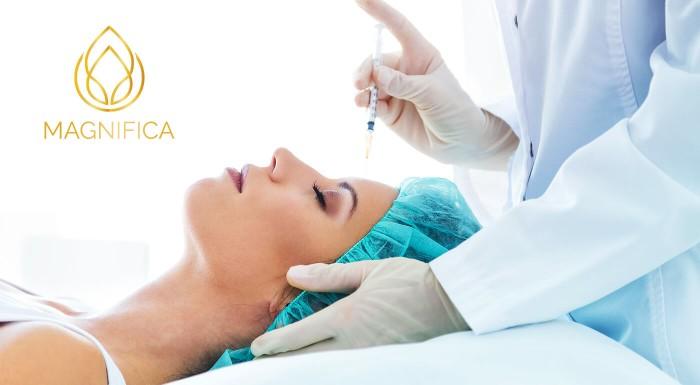 Omladnite v priebehu okamihu. Zbavte sa mimických vrások bezpečne a bezbolestne aplikáciou botulotoxínu v oblasti čela, glabely či okolia očí na klinike exkluzívnej estetickej medicíny Magnifica.