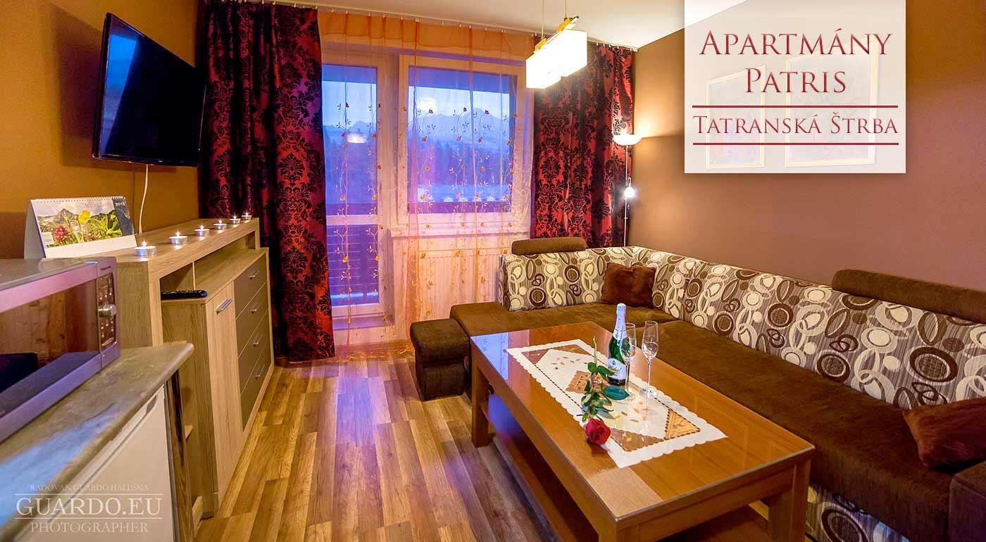 Urobte si výlet do Tatier - super pobyt v moderne zariadenom Apartmánovom dome Patris v Tatranskej Štrbe