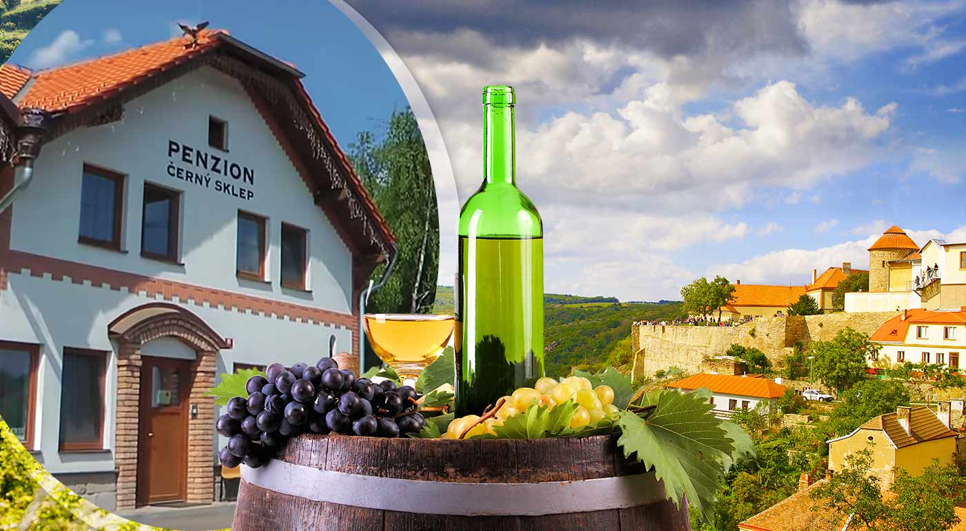 Pohodový pobyt v Penzióne Černý Sklep na Morave s ochutnávkou vín, raňajkami a zapožičaním bicyklov