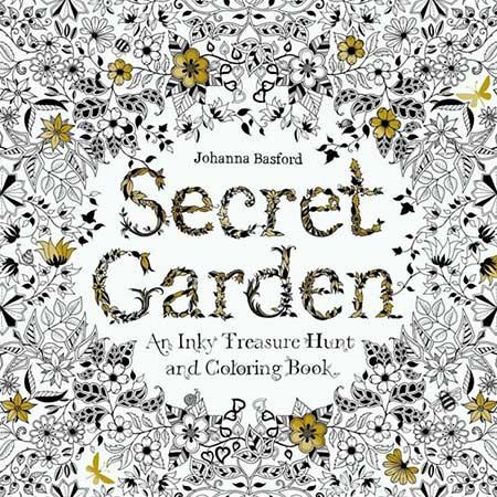 Antistresová omaľovánka Secret Garden (24 strán)