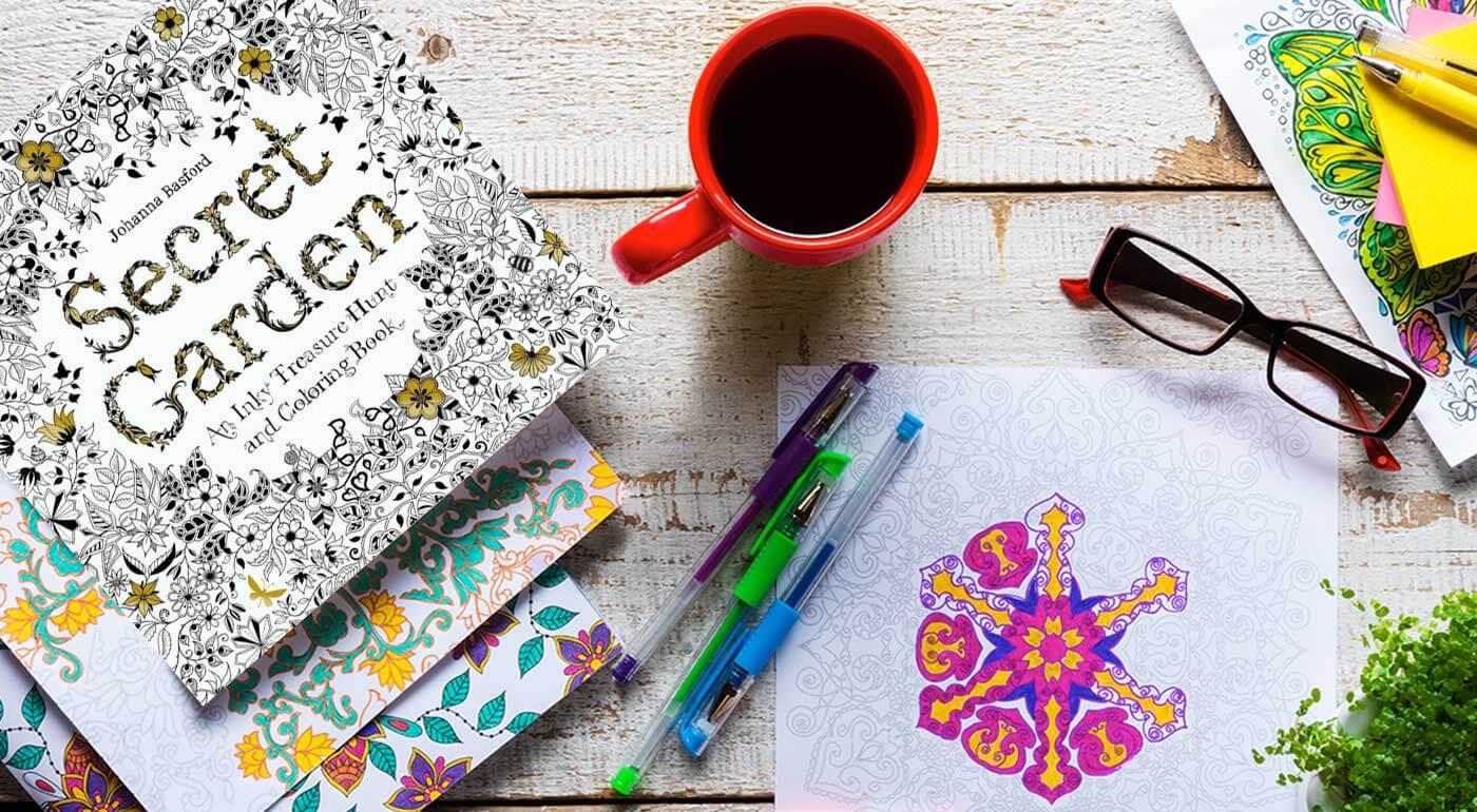 Antistresové omaľovánky - relaxujte s pastelkou v ruke