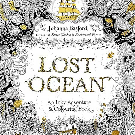 Antistresová omaľovánka Lost Ocean (24 strán)