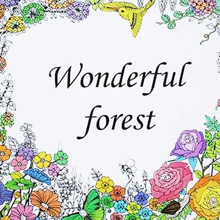 Antistresová omaľovánka Wonderful Forest (24 strán)