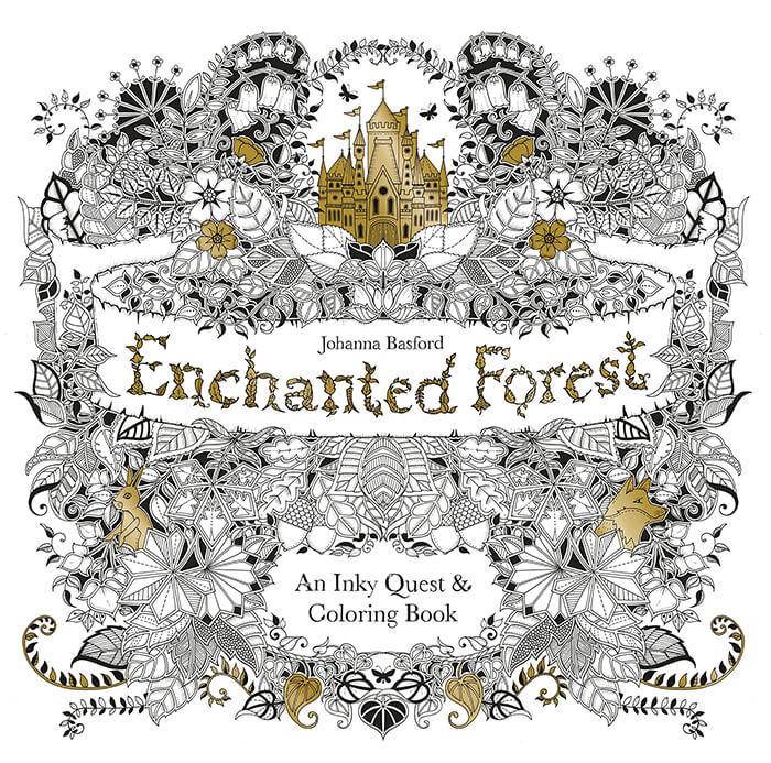 Antistresová omaľovánka Enchanted Forest (24 strán)