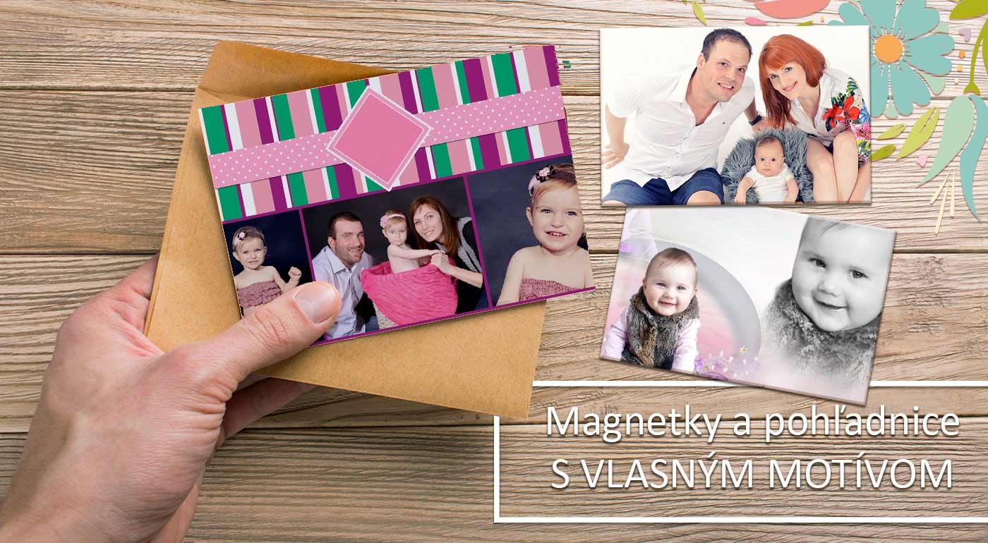 4 rovnaké magnetky cca 21 × 15 cm (A5) s rovnakou fotkou a grafikou
