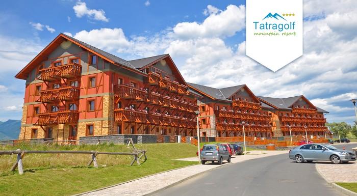 Fotka zľavy: Príďte si užiť krásy tatranskej jesene do apartmánov Tatragolf Mountain Resort vo Veľkej Lomnici na 3 či 4 dni pre dvoch. K tomu zľava na masáže, do aquaparku a wellness.