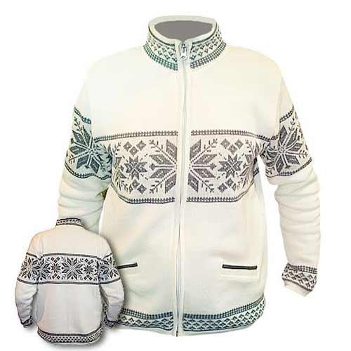 Biely sveter bez kapucne - veľkosť S