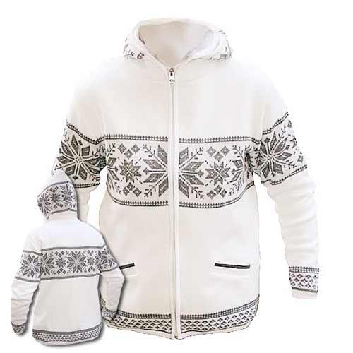 Biely sveter s kapucňou - veľkosť XS