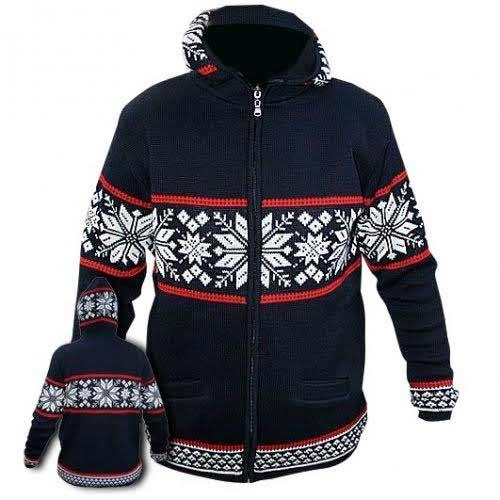 Modrý sveter s kapucňou - veľkosť S