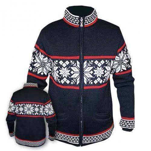 Modrý sveter bez kapucne - veľkosť S