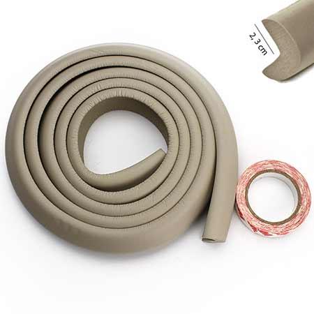 Penová ochrana rohov a hrán nábytku 2m x 3cm (tvar L) - farba sivá