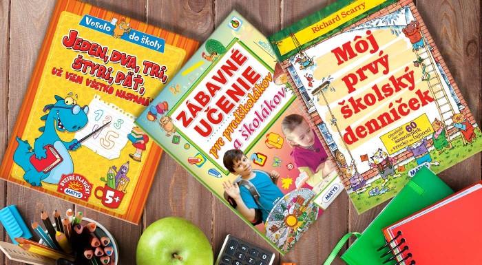 Fotka zľavy: Nádherne ilustrované knižky z vydavateľstva Matys sa stanú vernými priateľmi všetkých predškolákov, ktorí sa už tešia na školu. Hravým spôsobom si deti rozvinú pamäť, zoznámia sa s číslami.