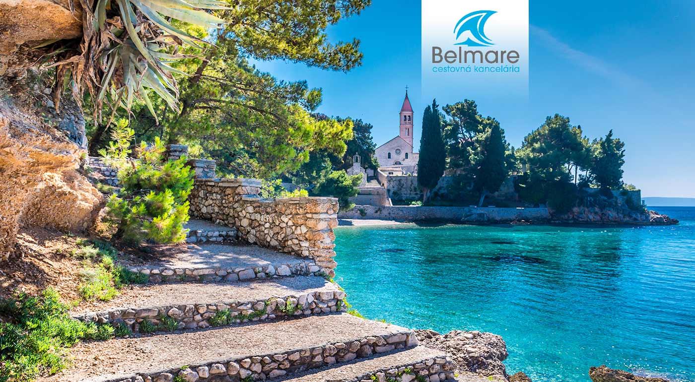 10-dňová dovolenka pri Jadrane na ostrove Brač v príjemnej vile Mandic s polpenziou, autobusovou dopravou a službami delegáta!