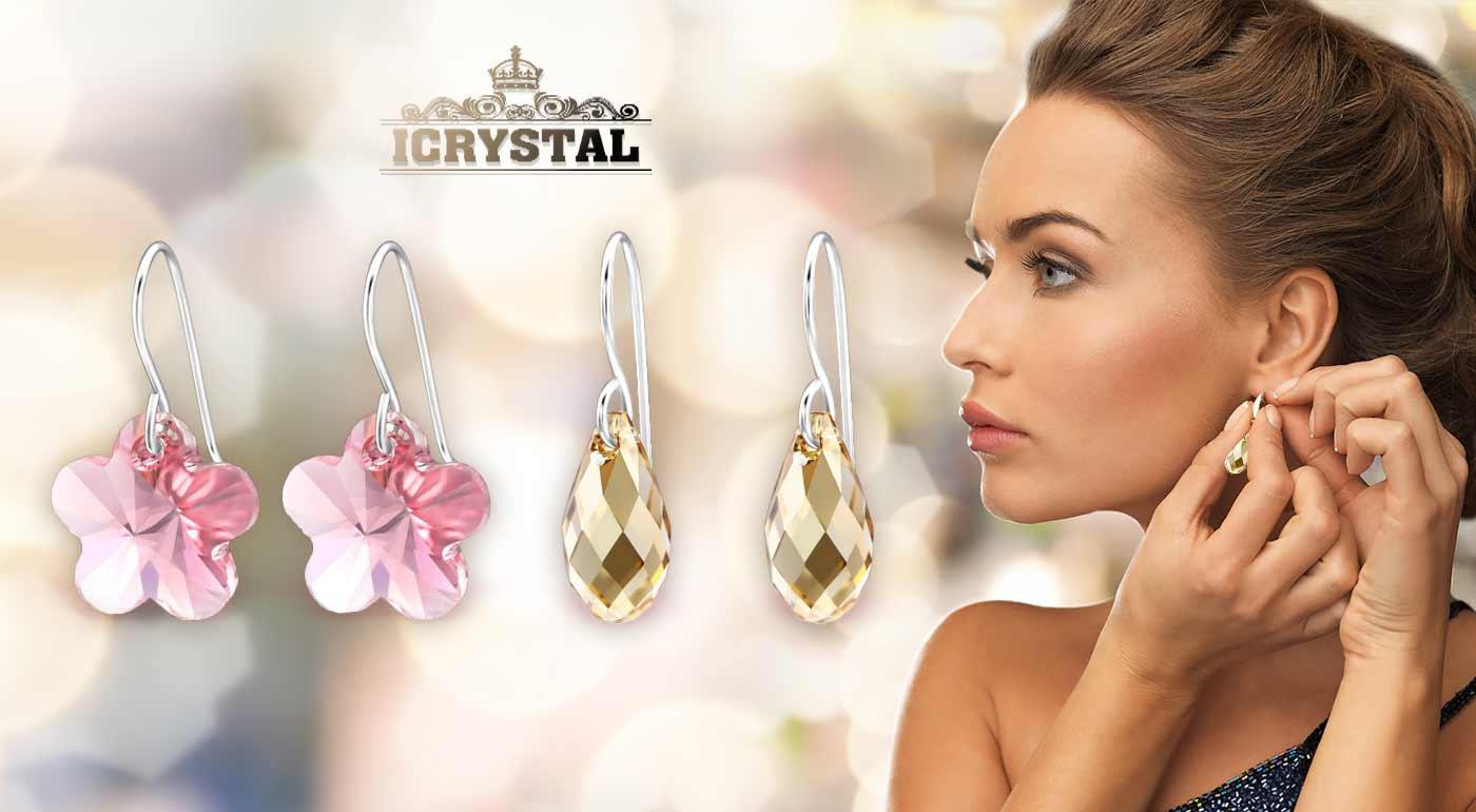 Fotka zľavy: Elegantné náušnice s krištáľmi Swarovski - zažiarte s ligotavou krásou!