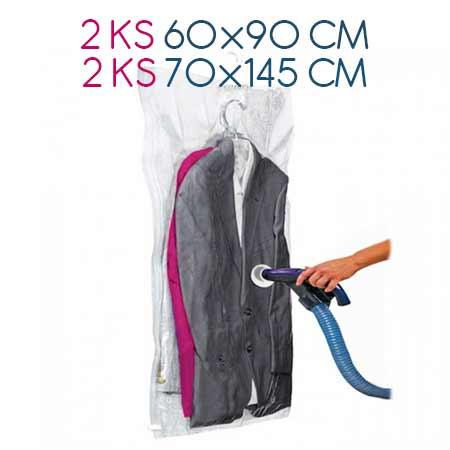 Balenie 4 ks závesných vákuových vriec: 2ks 60 x 90 cm, 2 ks: 70 x 145 cm