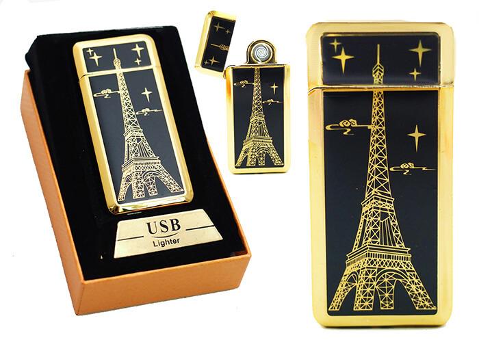Zapaľovač s USB nabíjaním - Eiffelova veža