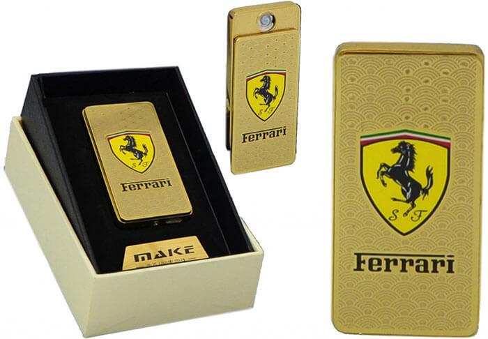 Zapaľovač s USB nabíjaním - zlaté Ferrari