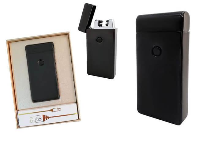 Plazmový zapaľovač s USB nabíjaním - čierny