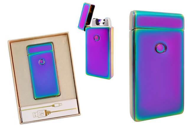Plazmový zapaľovač s USB nabíjaním - fialová perleť