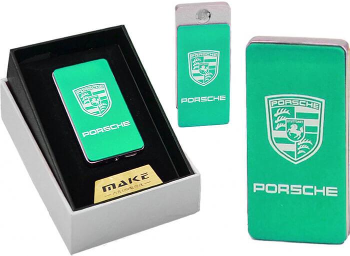 Zapaľovač s USB nabíjaním - zelené Porsche