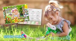 Zľava 44%: Veľkonočný set, ktorým okúzlite celú rodinu! Nechajte si vytlačiť originálne pozdravy a mini kalendáre s vašou vlastnou fotografiou a privítajte svatky jari naozaj špeciálne!