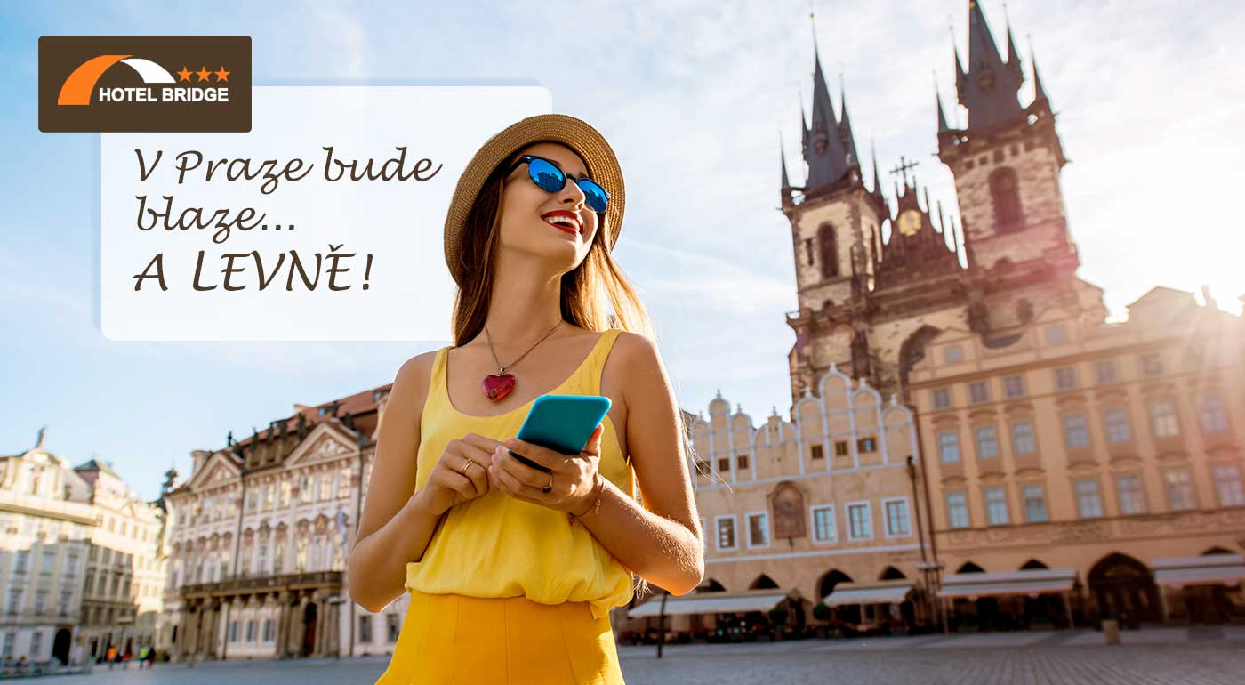 Pobyt v Prahe pre dvoch v Hoteli Bridge*** s raňajkami