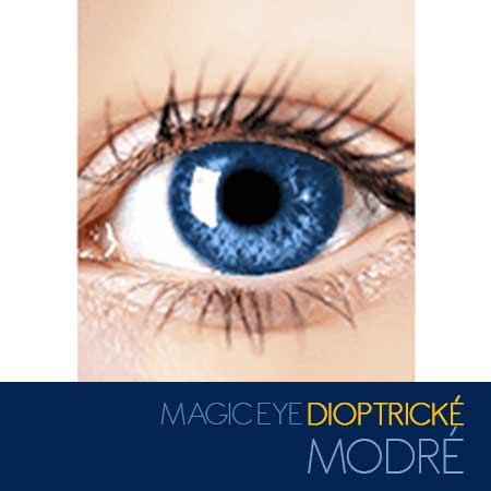 Magic Eye - farebné kontaktné šošovky dioptrické - farba modrá