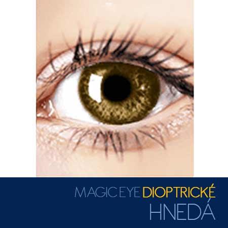 Magic Eye - farebné kontaktné šošovky dioptrické - farba hnedá
