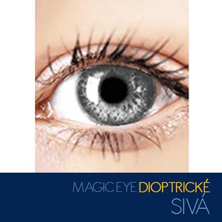 Magic Eye - farebné kontaktné šošovky dioptrické - farba sivá