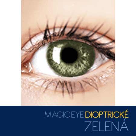 Magic Eye - farebné kontaktné šošovky dioptrické - farba zelená