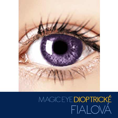 Magic Eye - farebné kontaktné šošovky dioptrické - farba fialová