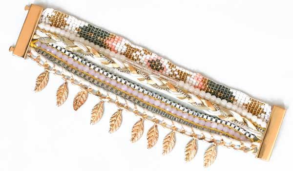 Ručne vyrábaný indánsky náramok - model 1