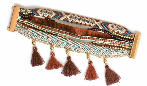 Ručne vyrábaný indánsky náramok - model 2