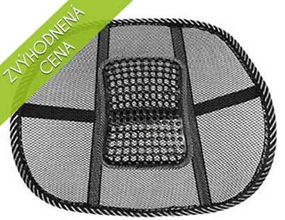 Masážna opierka chrbta v čiernej farbe - zvýhodnená cena pre prvých 10 zákazníkov!