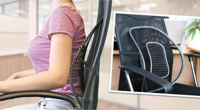 Pohodlná pomôcka pre zdravie vašej chrbtice. Príjemná masážna opierka chrbta vám prinavráti zdravý chrbát. Na každú stoličku, do každého auta - doprajte si komfortné sedenie!