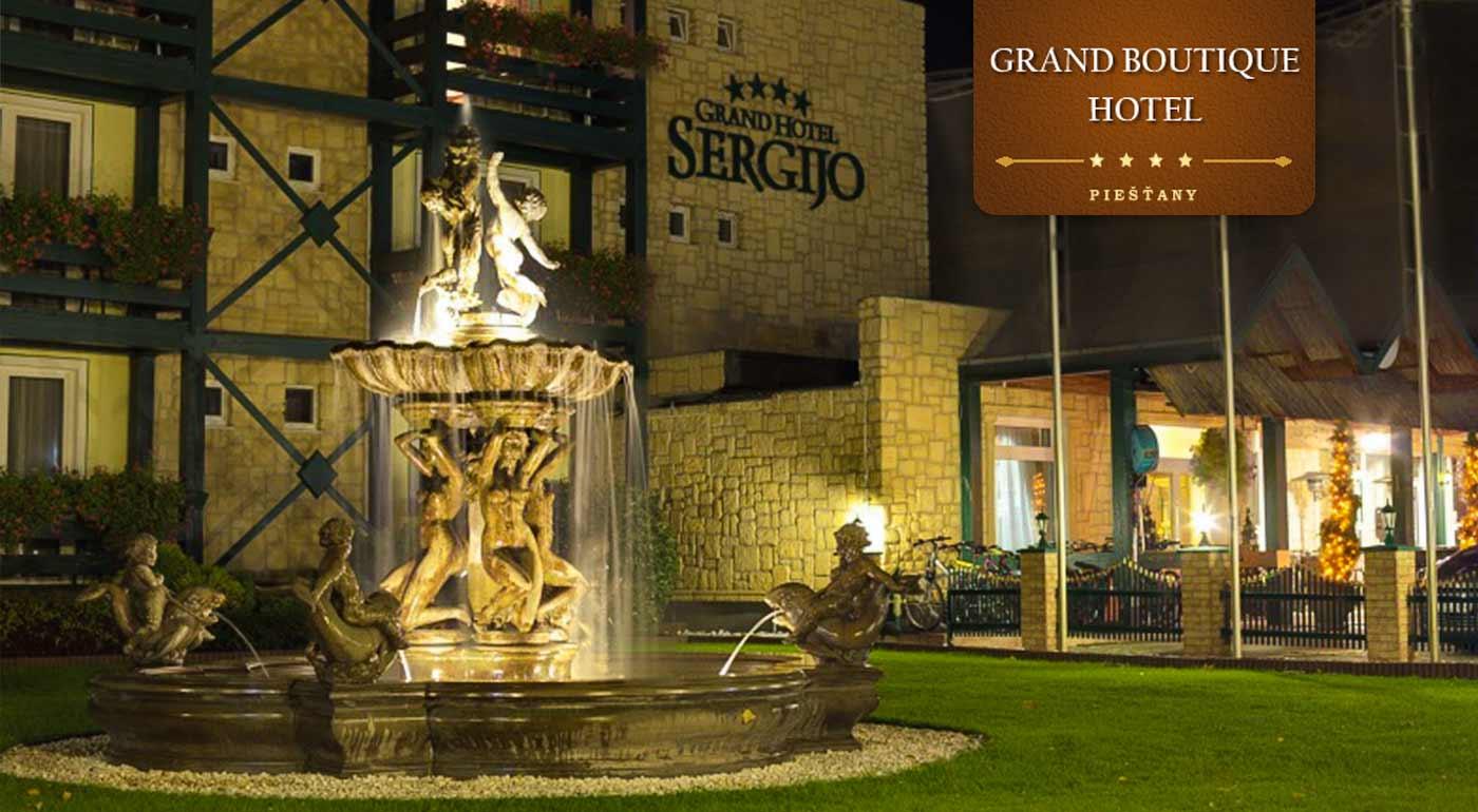 Romantická noc v luxusnom Grand Boutique Hoteli Sergijo**** Piešťany s darčekom pre dámu