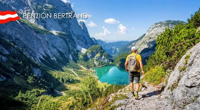 Fotka zľavy: Tatry máte pochodené krížom-krážom? Vyskúšajte Rakúske Alpy a prijmite pozvanie do útulného slovenského Penziónu Bertrand s polpenziou na 4 až 7 dní!