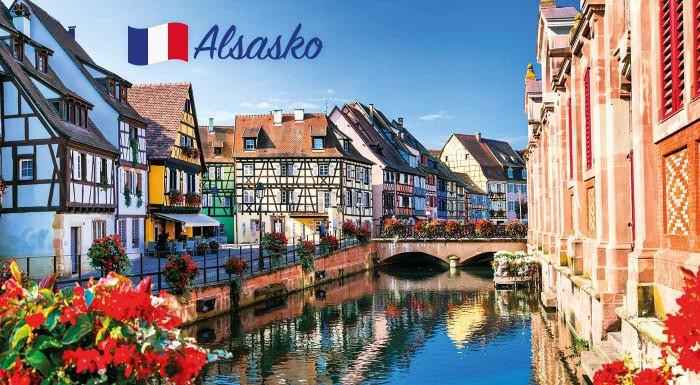 """Fotka zľavy: Spoznajte Alsasko - francúzsky kraj vína, bocianov a neuveriteľne krásnych stredovekých mestečiek. Navštívte križovatku Európy - Štrasburg či  """"malé Benátky"""" mesto Colmar na 4-dňovom zájazde."""