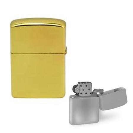 Štúdio Kama: zapaľovač s obojstrannou potlačou podľa vlastného výberu - farba zlatá