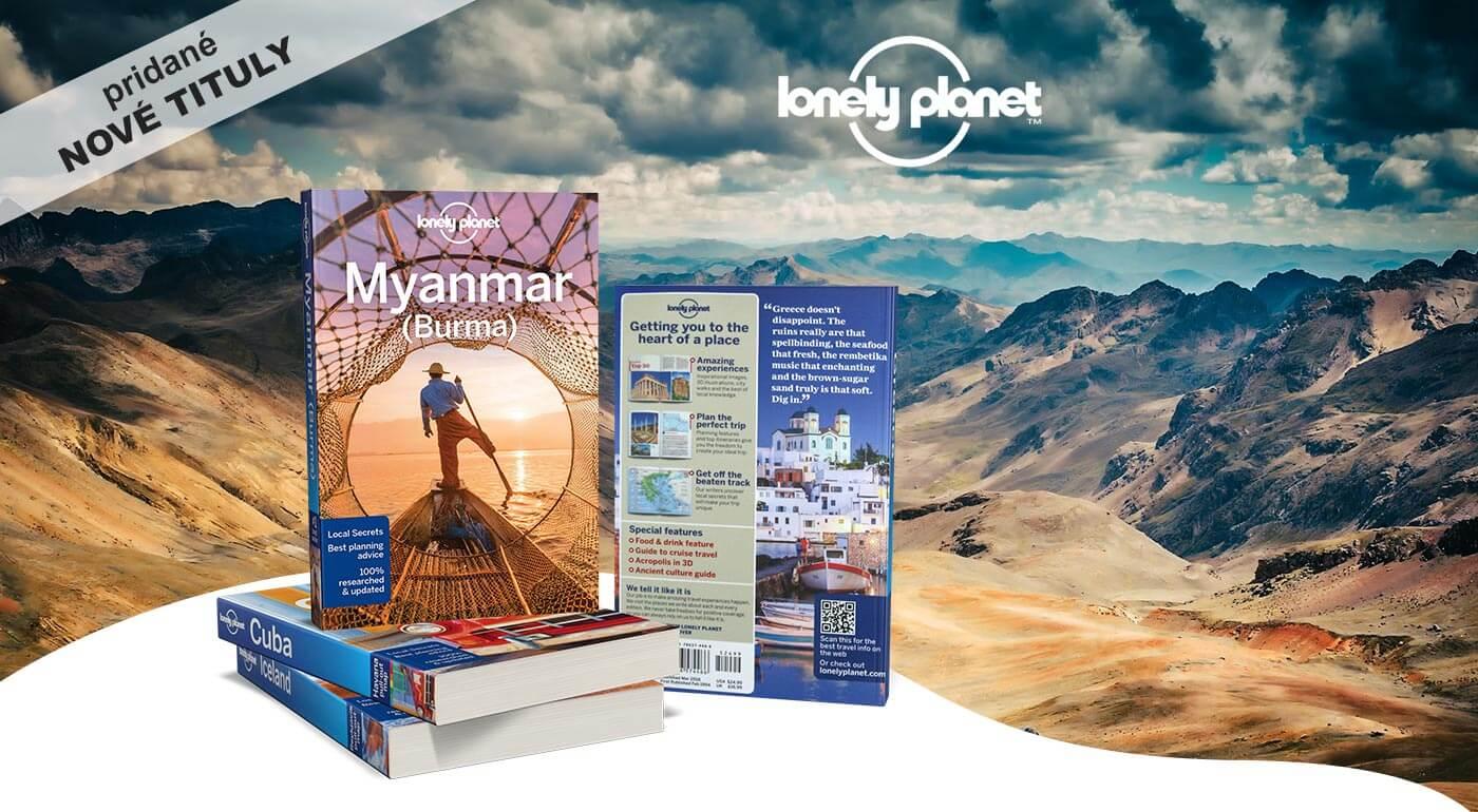Knihy Lonely Planet - na výber až 70 cestovateľských sprievodcov o exotických destináciách
