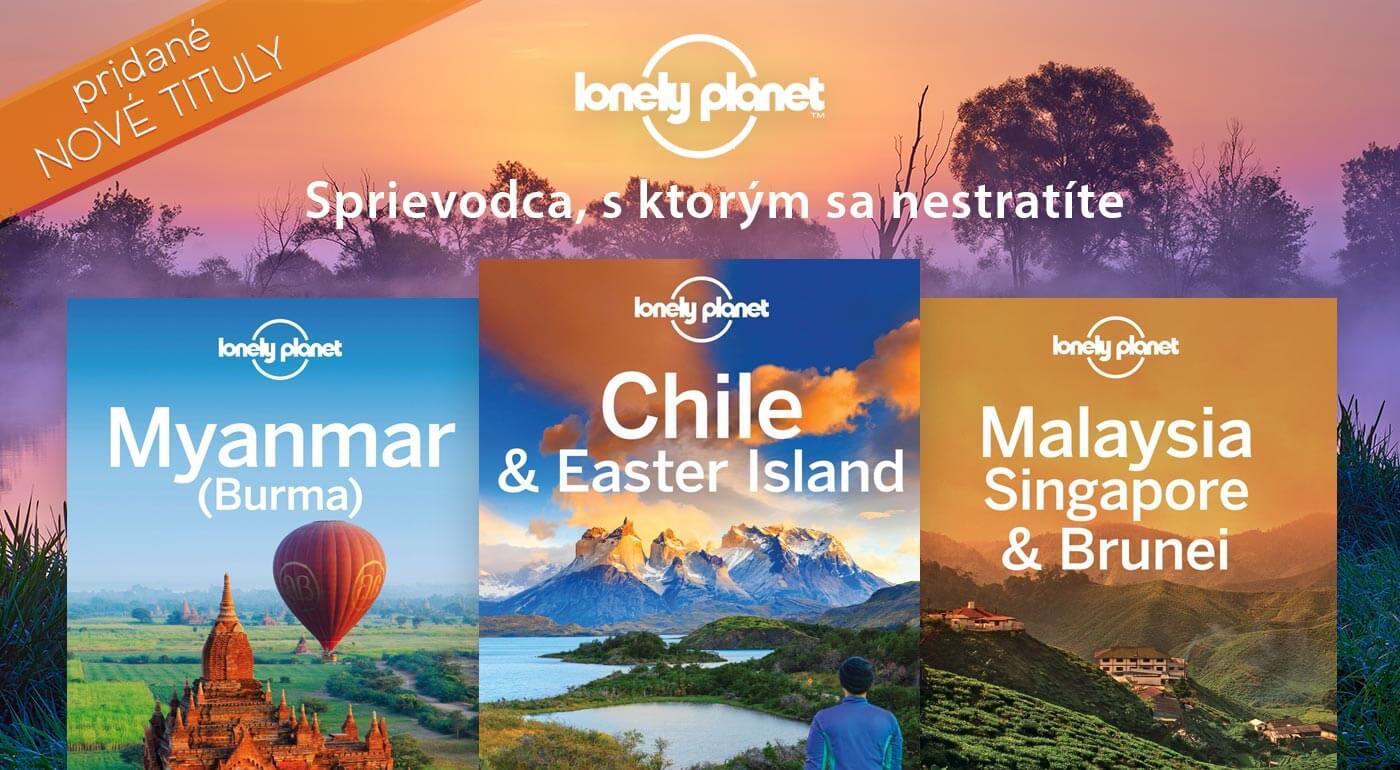 Knihy Lonely Planet - na výber viac než 30 cestovateľských sprievodcov o exotických destináciách