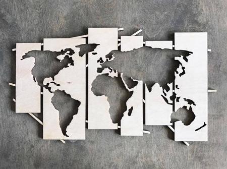 Drevena Mapa Do Interieru Zamenej Sk
