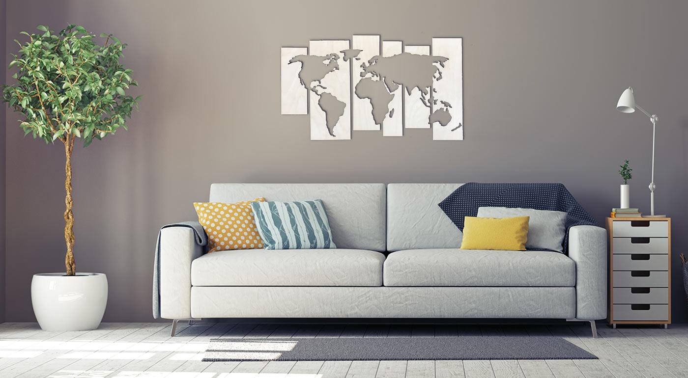 Štýlová drevená mapa do každého interiéru - tri druhy v rôznych veľkostiach!